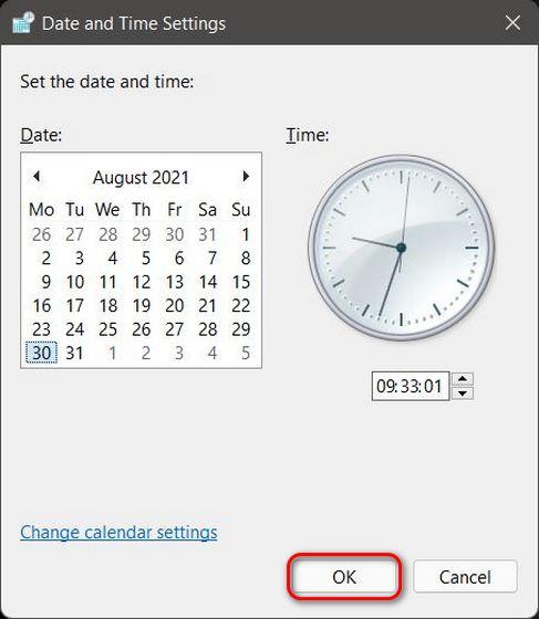 Cách thay đổi ngày và giờ trong Windows 11